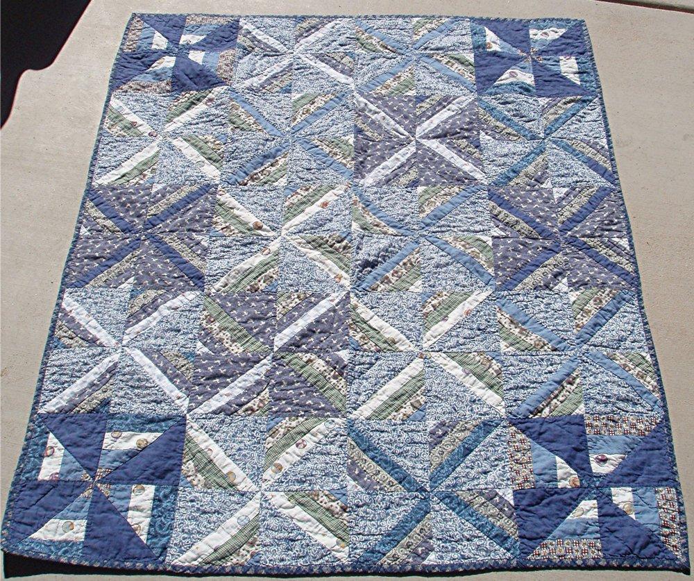 Quilt - Blue : blue gray quilt - Adamdwight.com